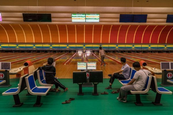 Bowling in Pyongyang, North Korea