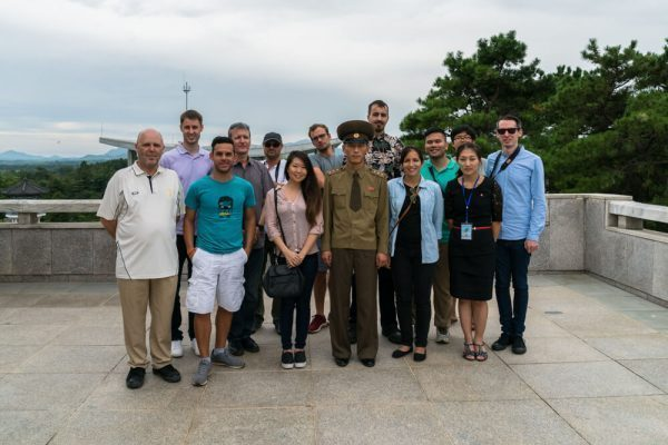 At the DMZ with my tour group