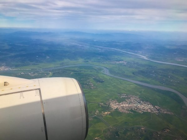 Flying to North Korea