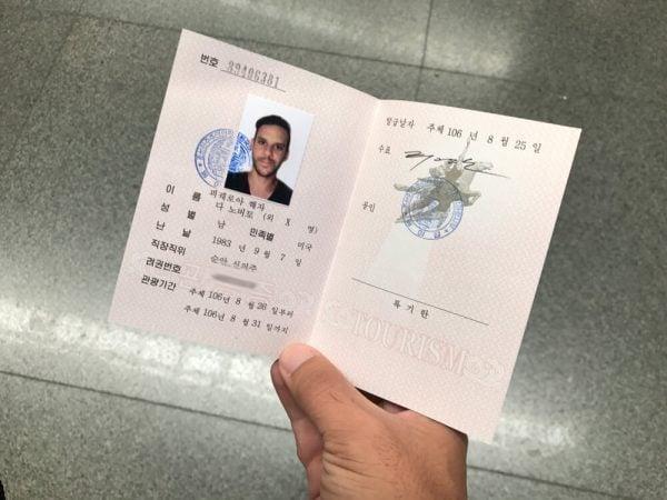 North Korean visa