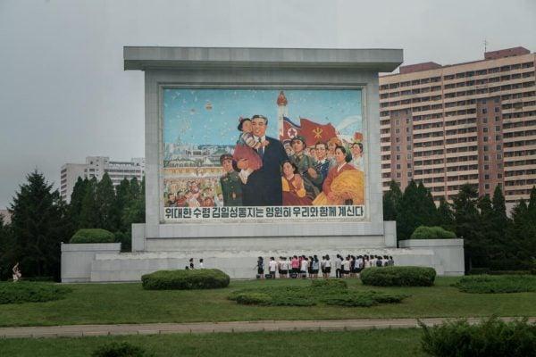 Propaganda in Pyongyang, North Korea