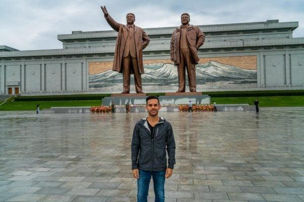 Me at Mansudae Grand Monument in Pyongyang, North Korea