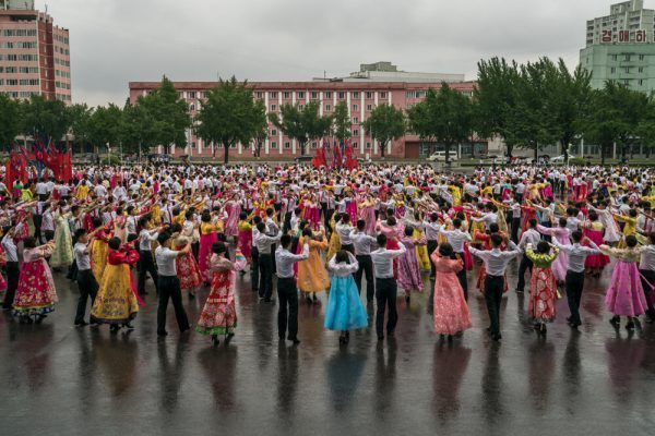 Mass Dance in Pyongyang, North Korea