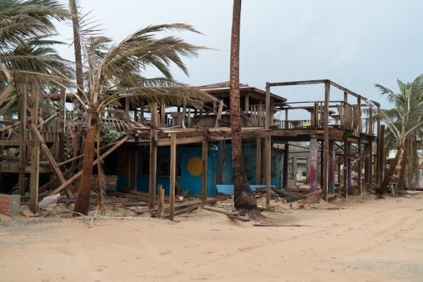 Destroyed bar in Piñones