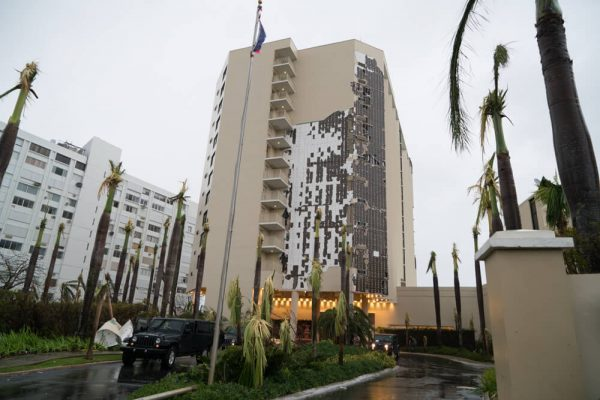 Courtyard Marriott damaged after Maria