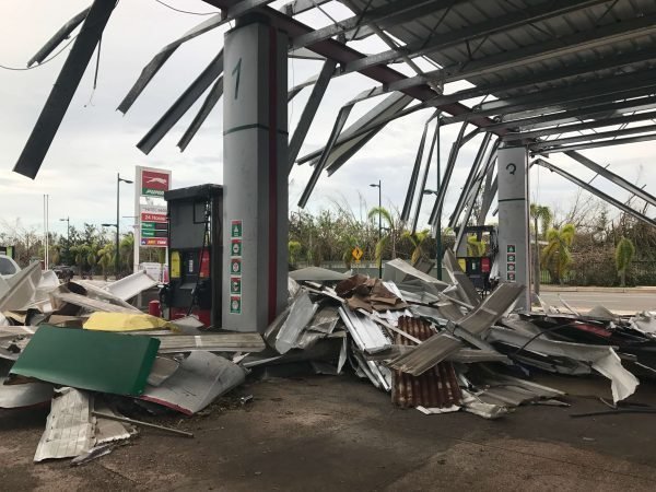 Destroyed gas station in Carolina