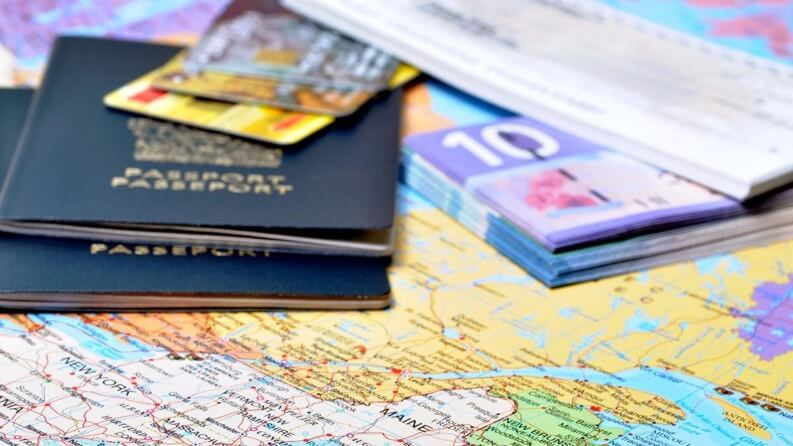 Passports, money, and cards