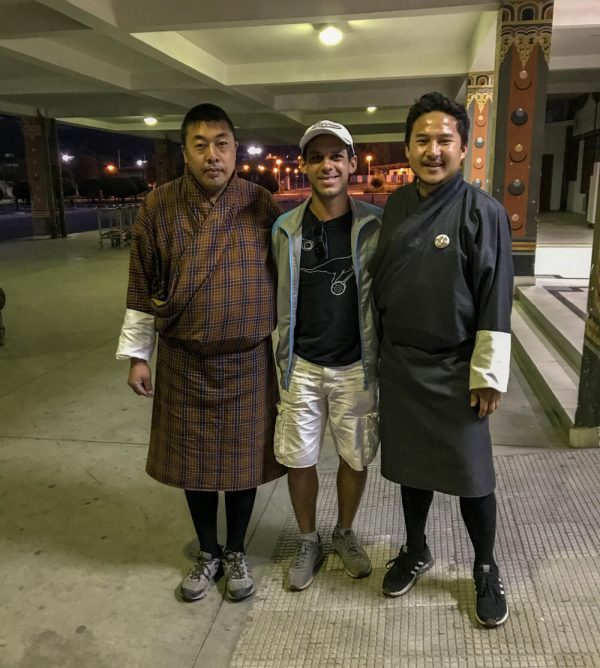 Me with the guides, Bhutan