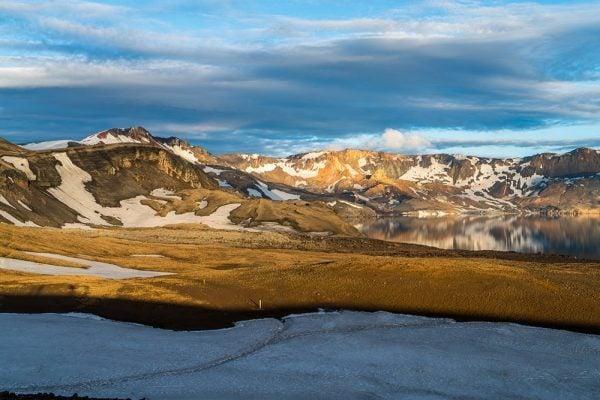 Dyngjufjoll Mountains Sunset in Askja