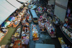 A floating market near Bangkok