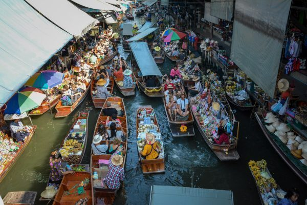 A floating market near Bangkok