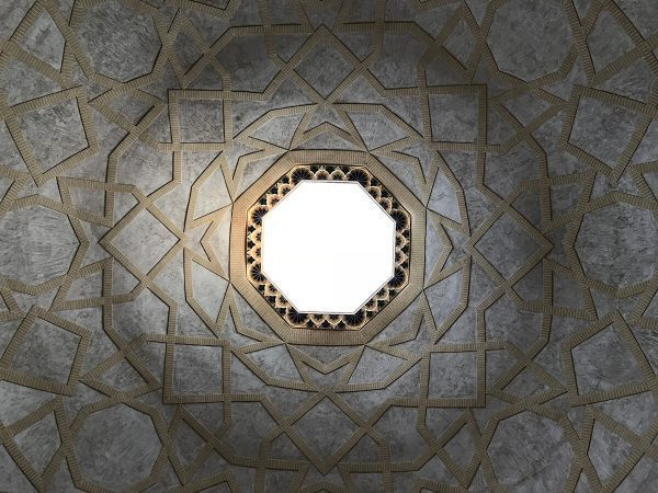 Ceiling at the bazaar in Eqlid, Iran
