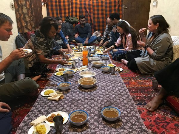 Having dinner with the nomads in Iran
