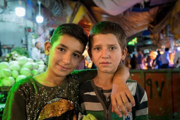 Kids at the Bazaar in Shiraz, Iran