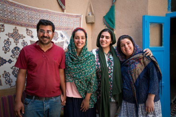Zoroastrian Family in Taft, Iran