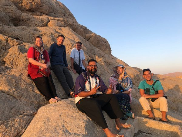 My Intrepid Travel group in Iran