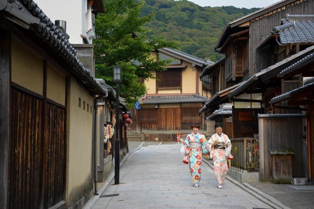 Girls walking in Kyoto
