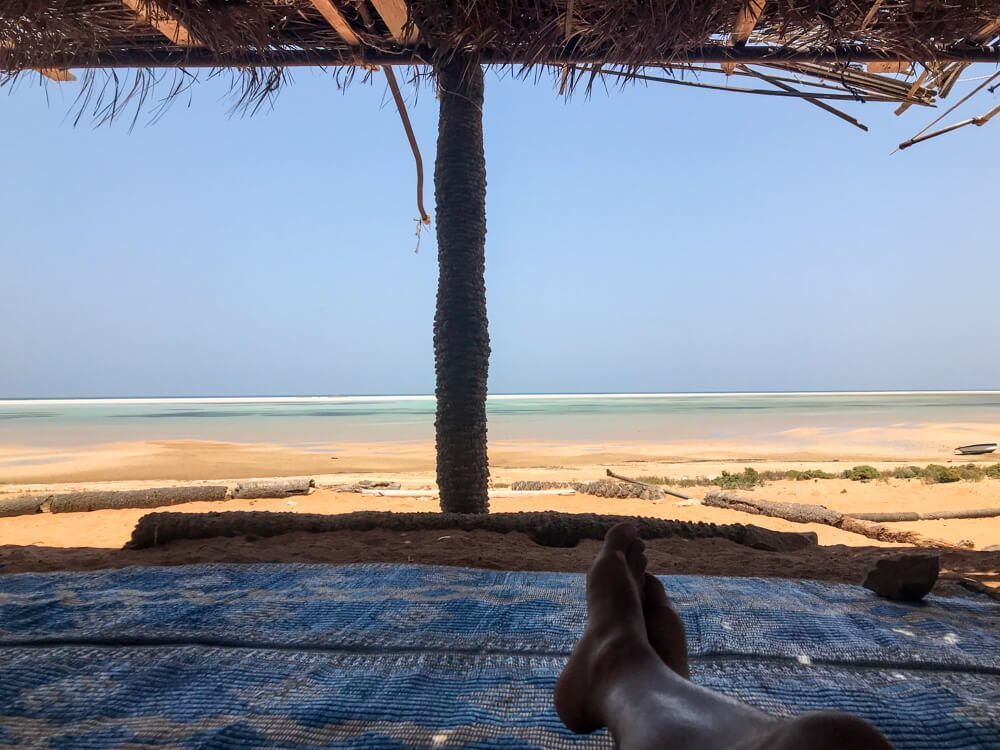 My camp site in Detwah Lagoon, Socotra