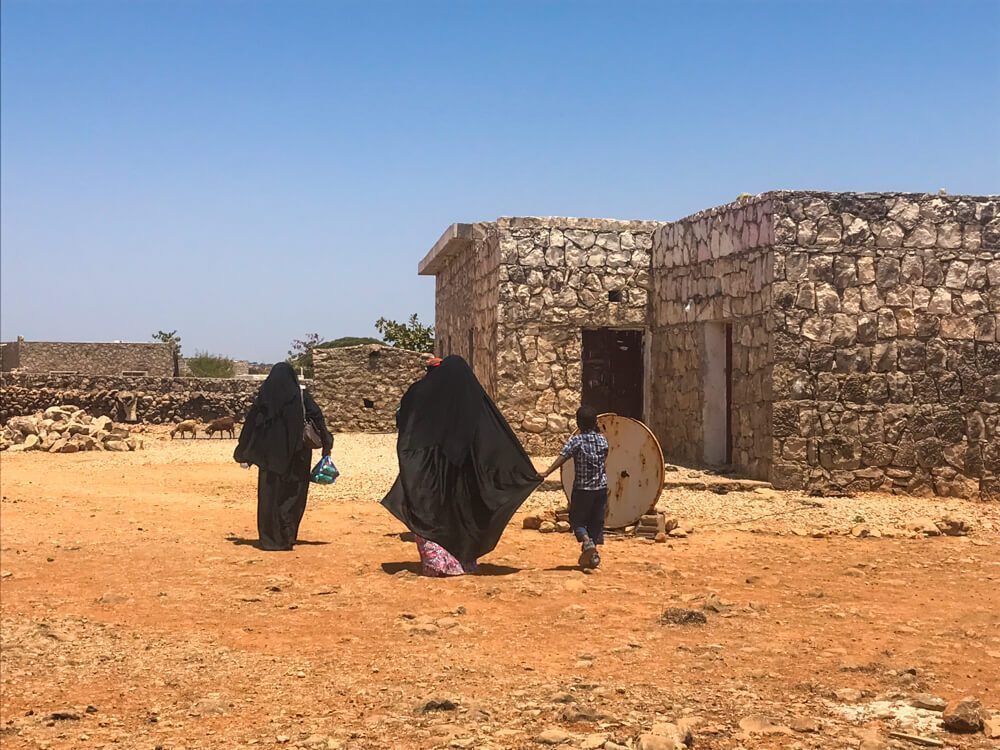 A Bedouin family in Socotra