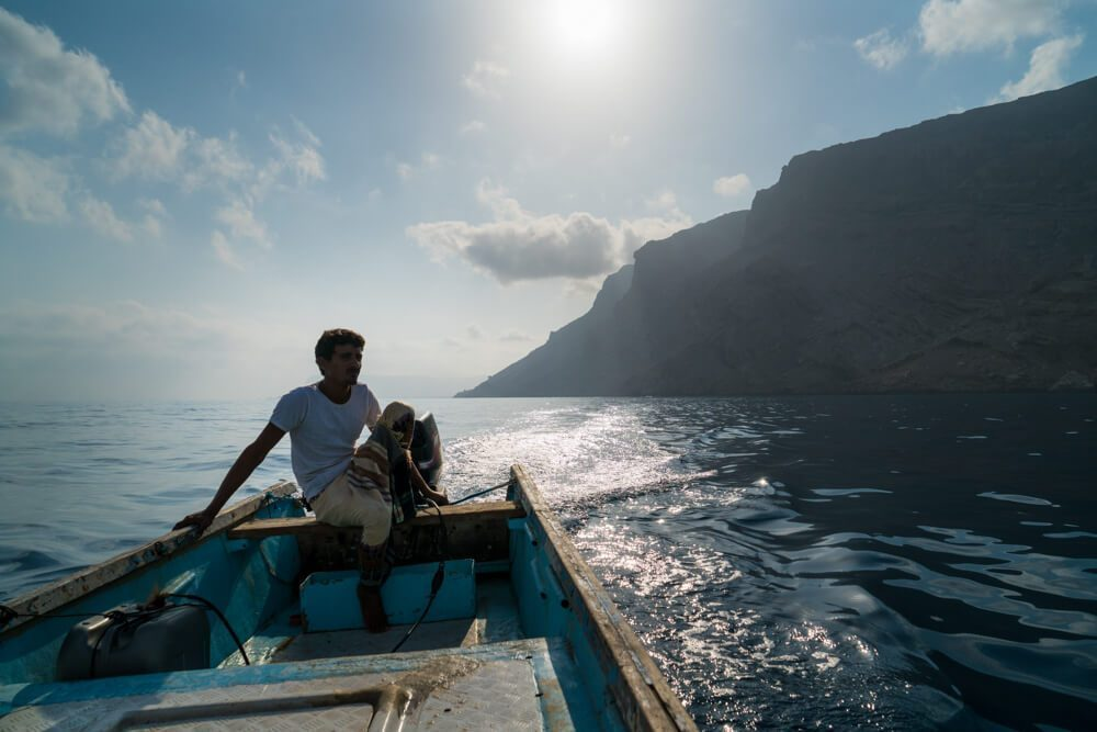 Fisherman in Socotra Island