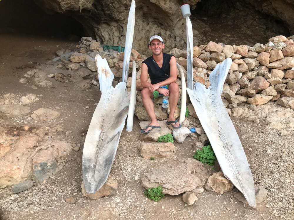 Norbert at Abdullah's Cave