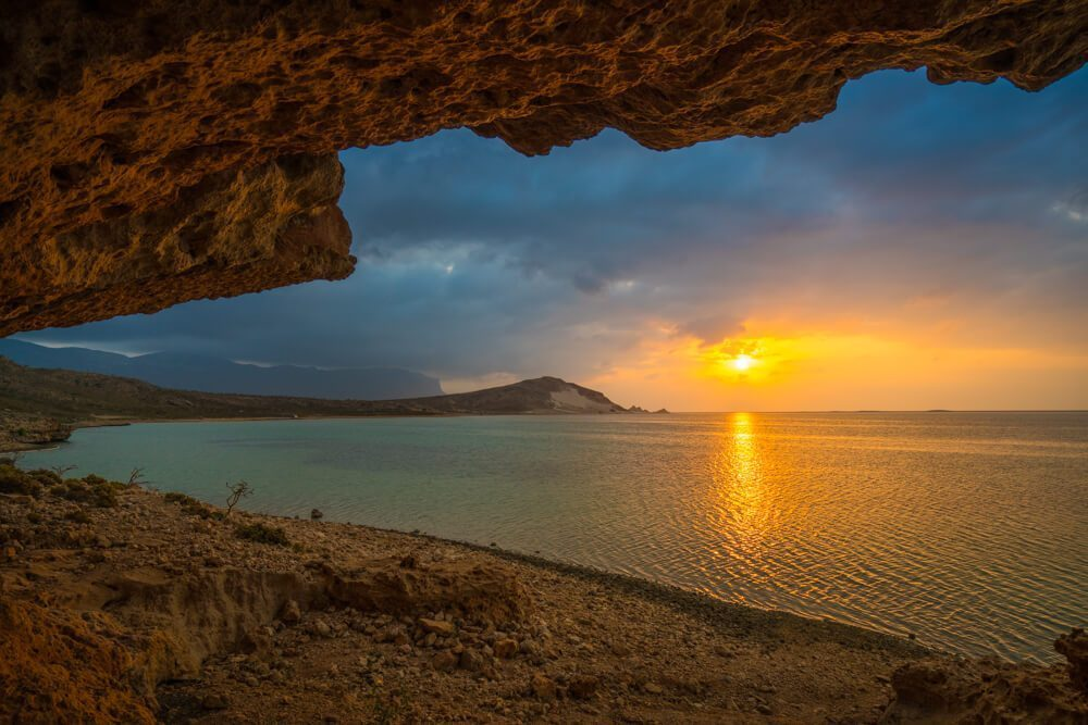 Sunset at Detwah Lagoon, Socotra