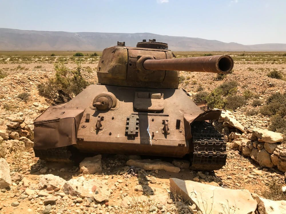 A tank at Socotra