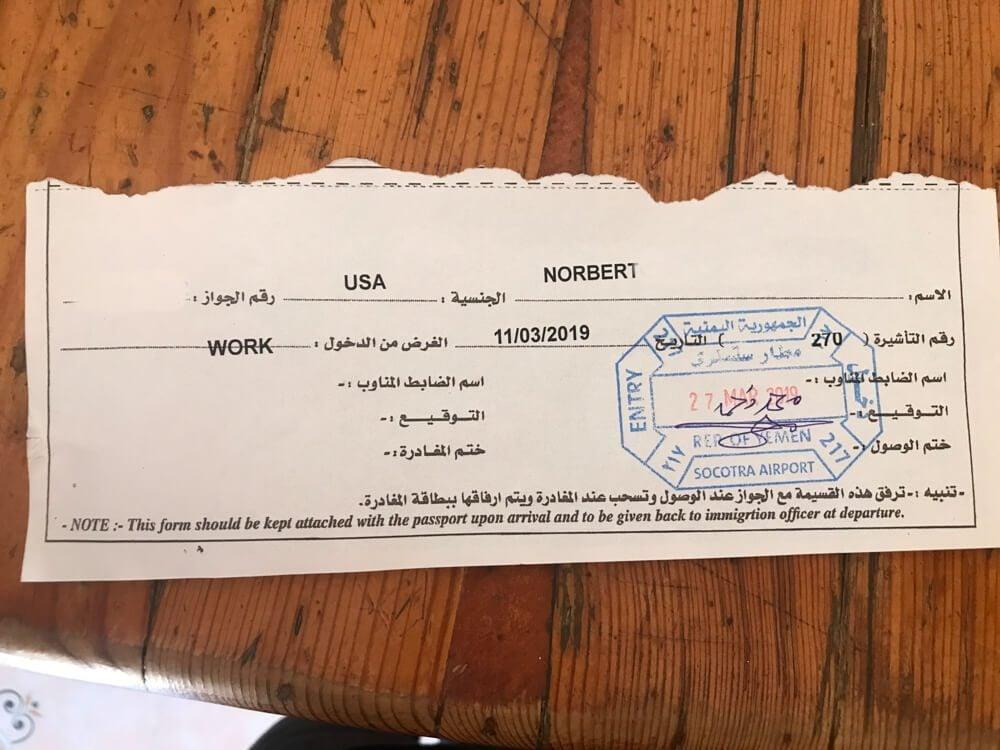 Socotra Visa