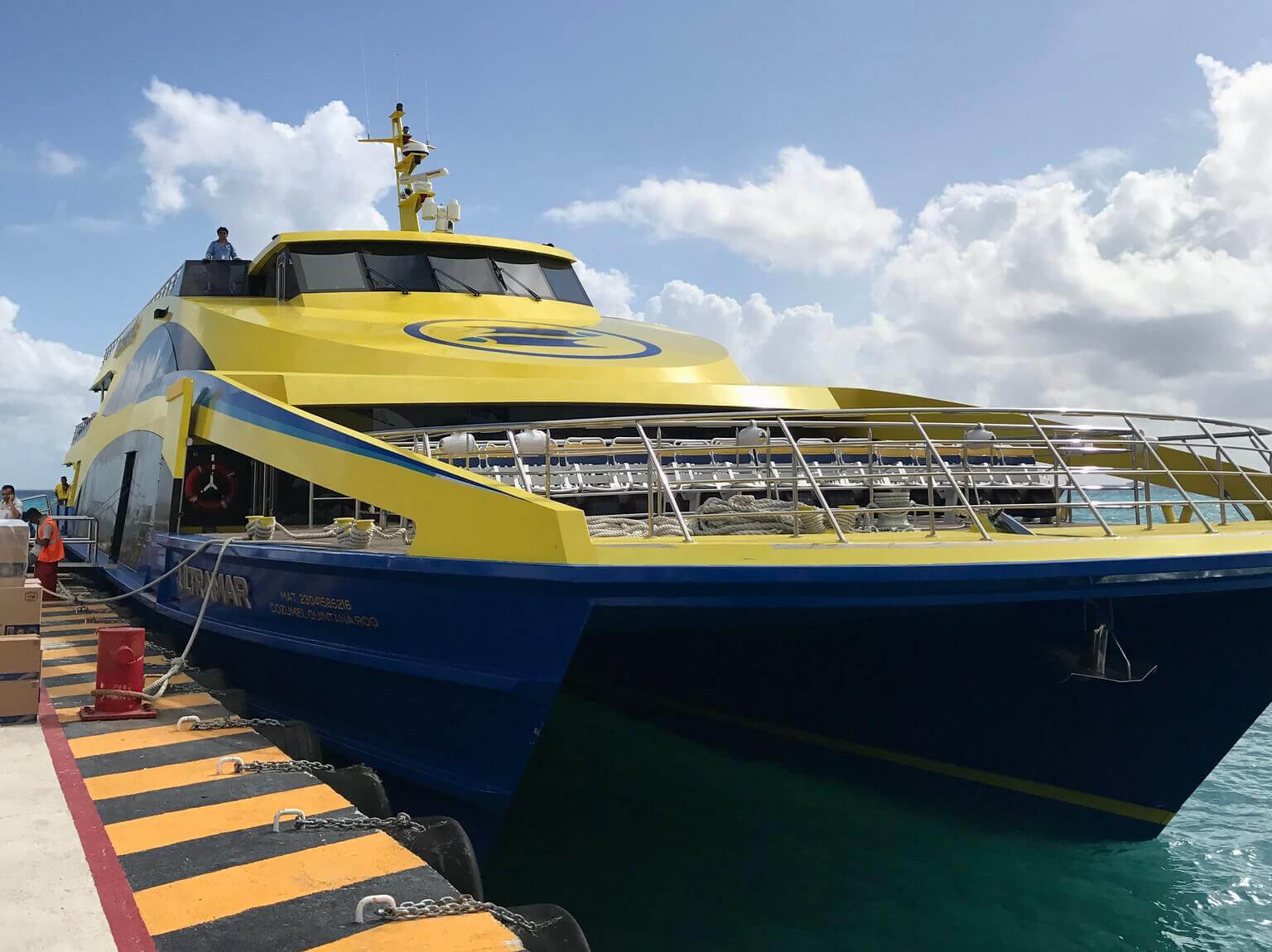 Cozumel, Mexico. Ultramar Ferry