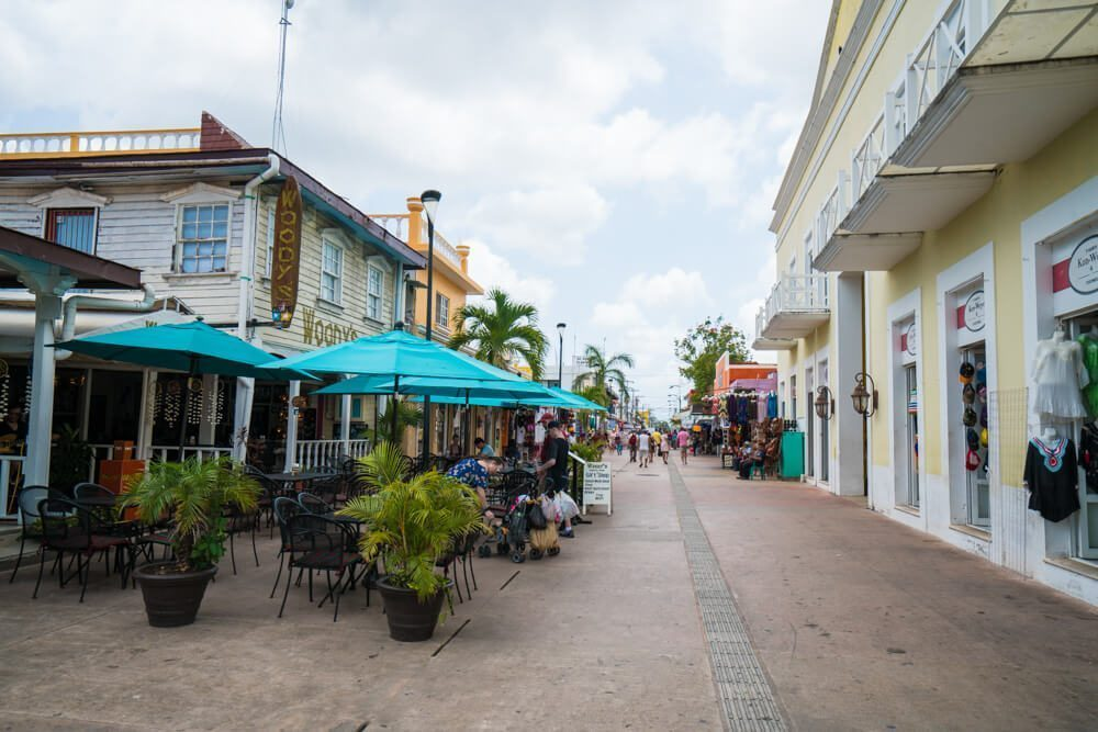 Cozumel, Mexico. San Miguel Street
