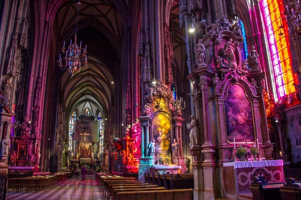 St Stephen's Cathedral Interior in Vienna, Austria