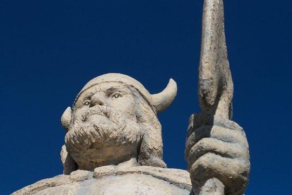 Gimli Viking Statue in Manitoba, Canada