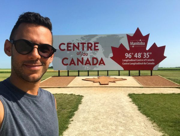 Longitudinal Center of Canada Sign