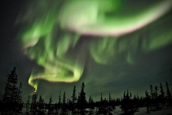 Northern Lights in Churchill in Manitoba, Canada