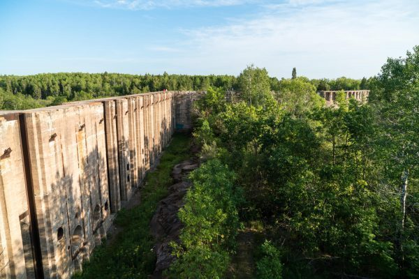 Pinawa Dam from above at the Whiteshell Provincial Park, Manitoba, Canada