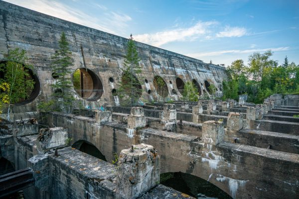 Pinawa Dam from Below at the Whiteshell Provincial Park, Manitoba, Canada