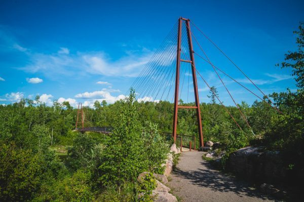 The Nutimik Trail Bridge at the Whiteshell Provincial Park, Manitoba, Canada