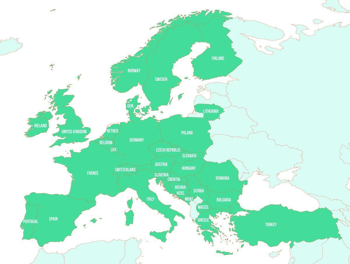 Eurail Map. Eurail Pass