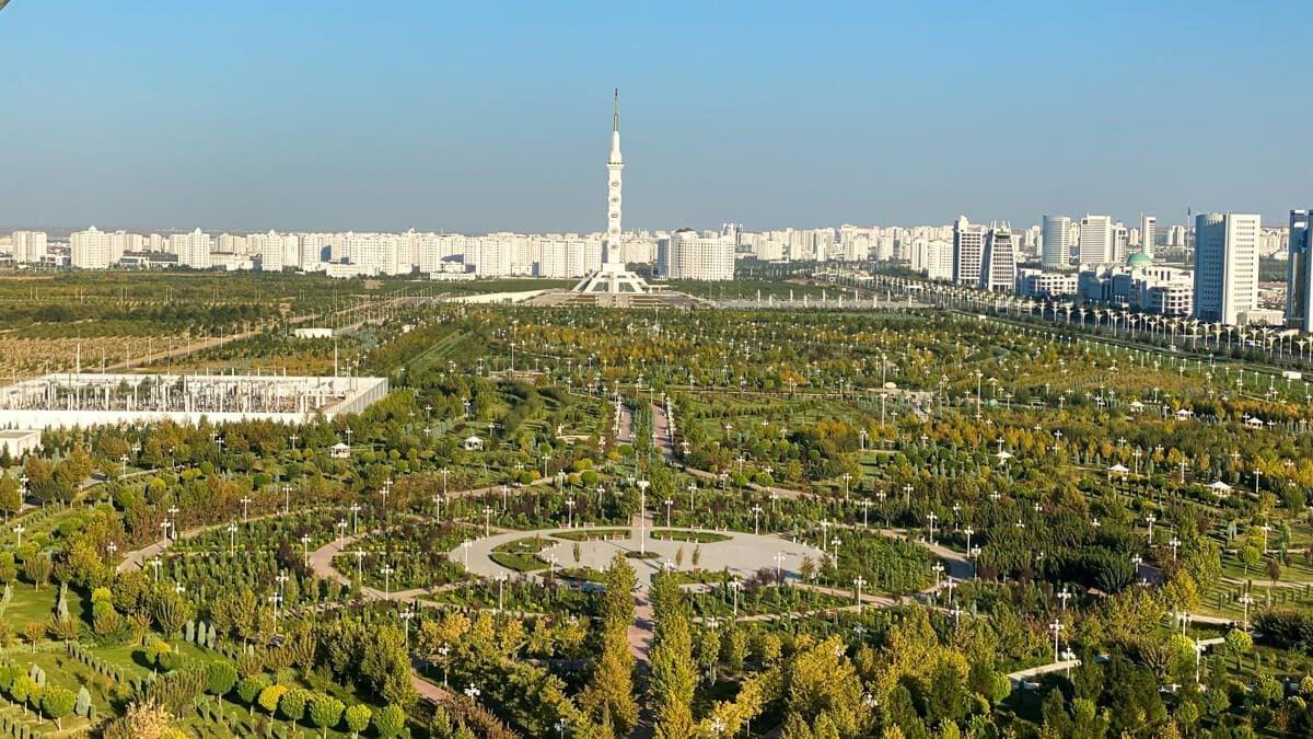 Park in Ashgabat, Turkmenistan