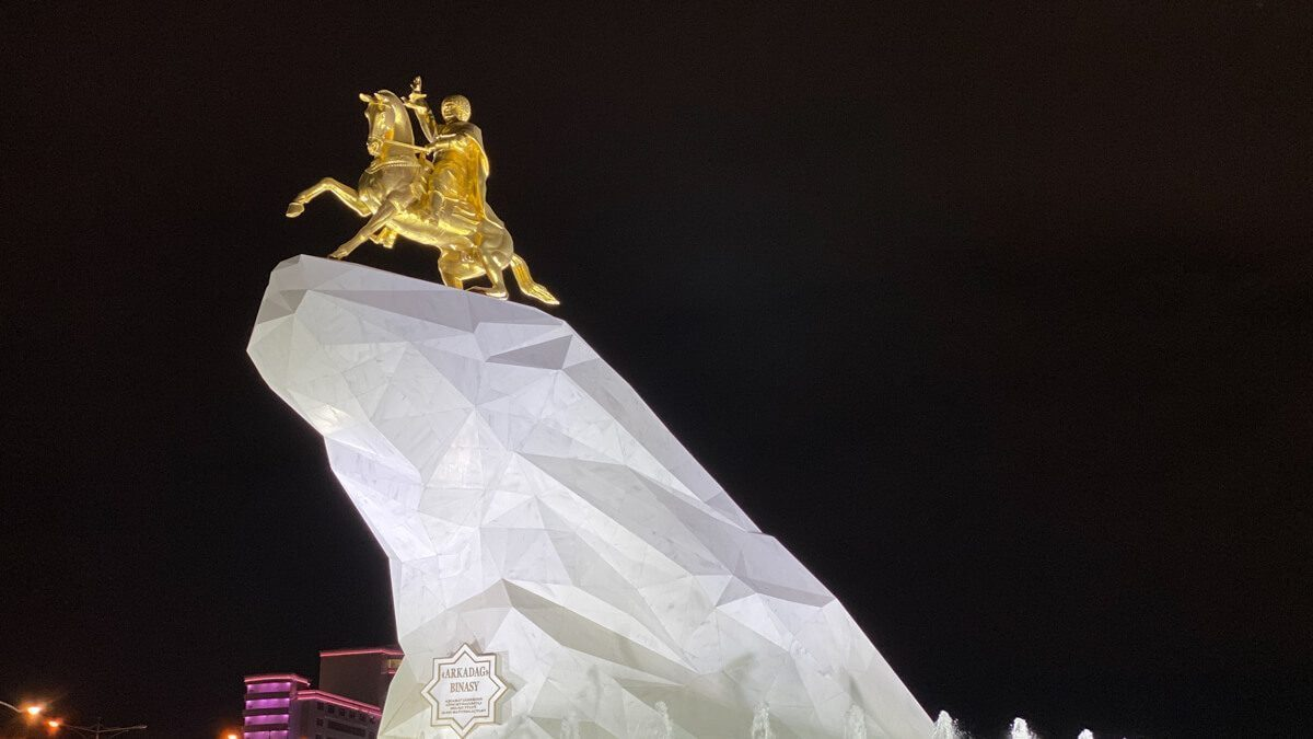 Statue in Ashgabat, Turkmenistan