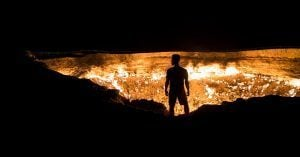 Norbert at Gates of Hell, Turkmenistan