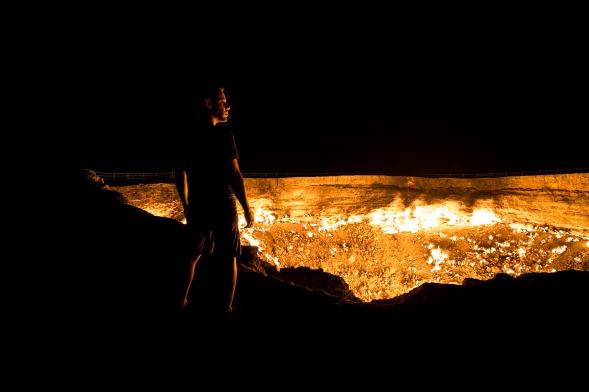 Gates of Hell in Turkmenistan. Norbert