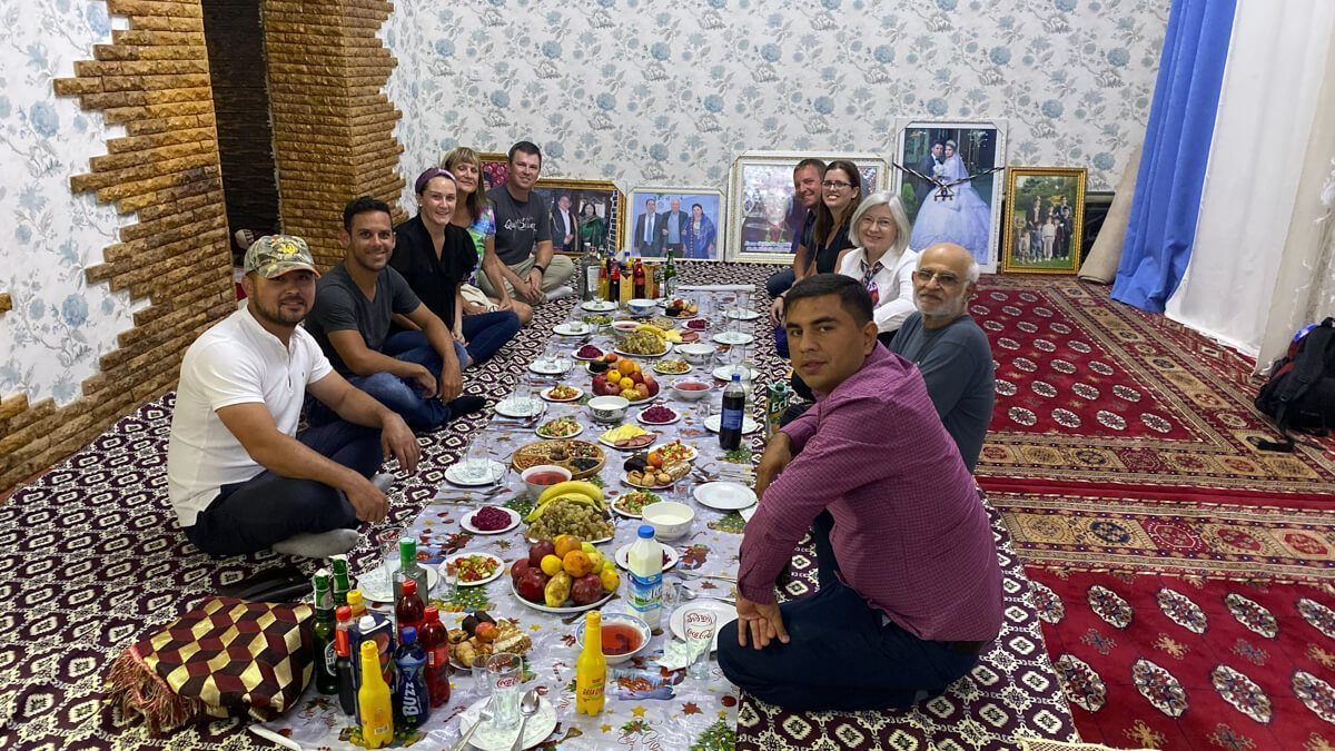Dinner in Turkmenistan