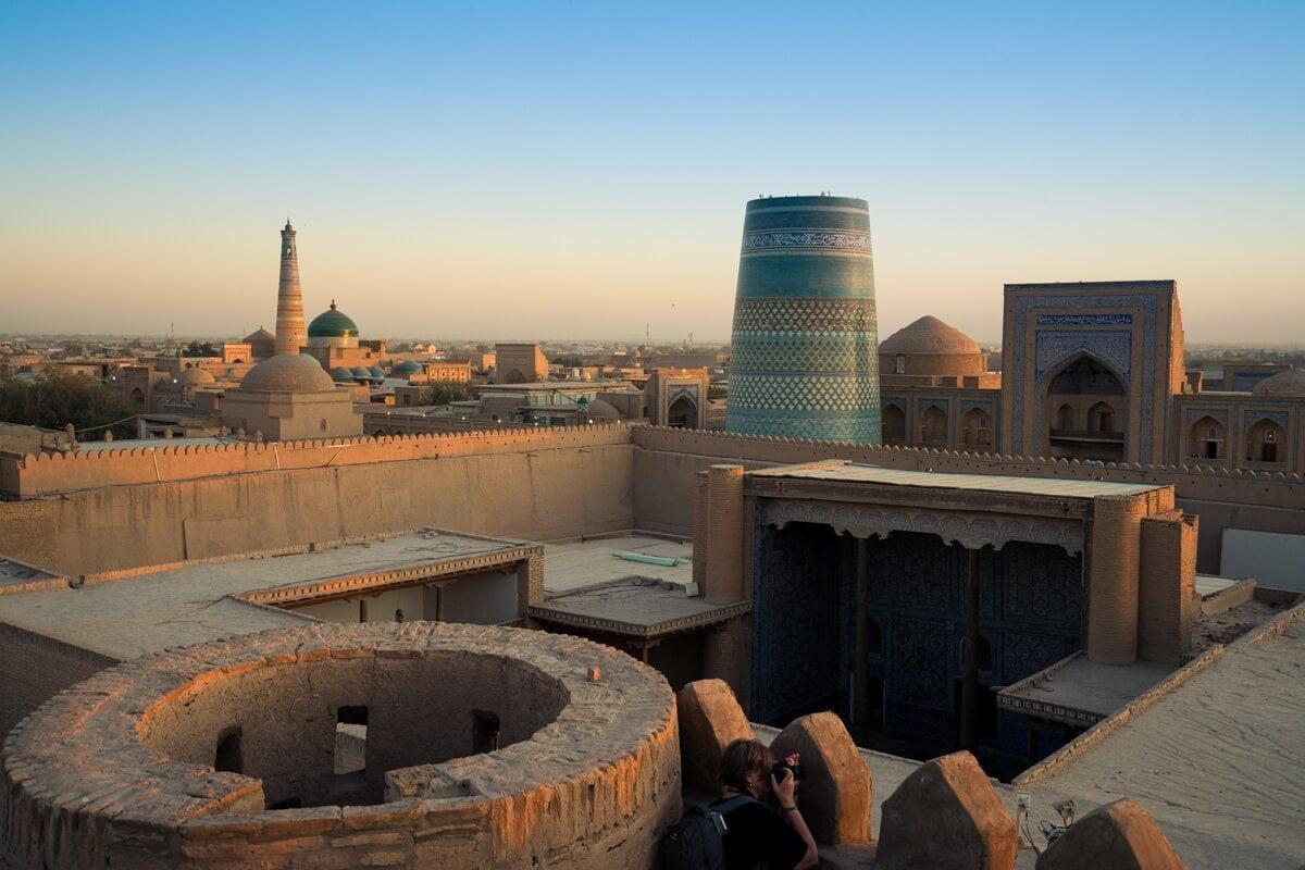 Sunset at Khiva, Uzbekistan