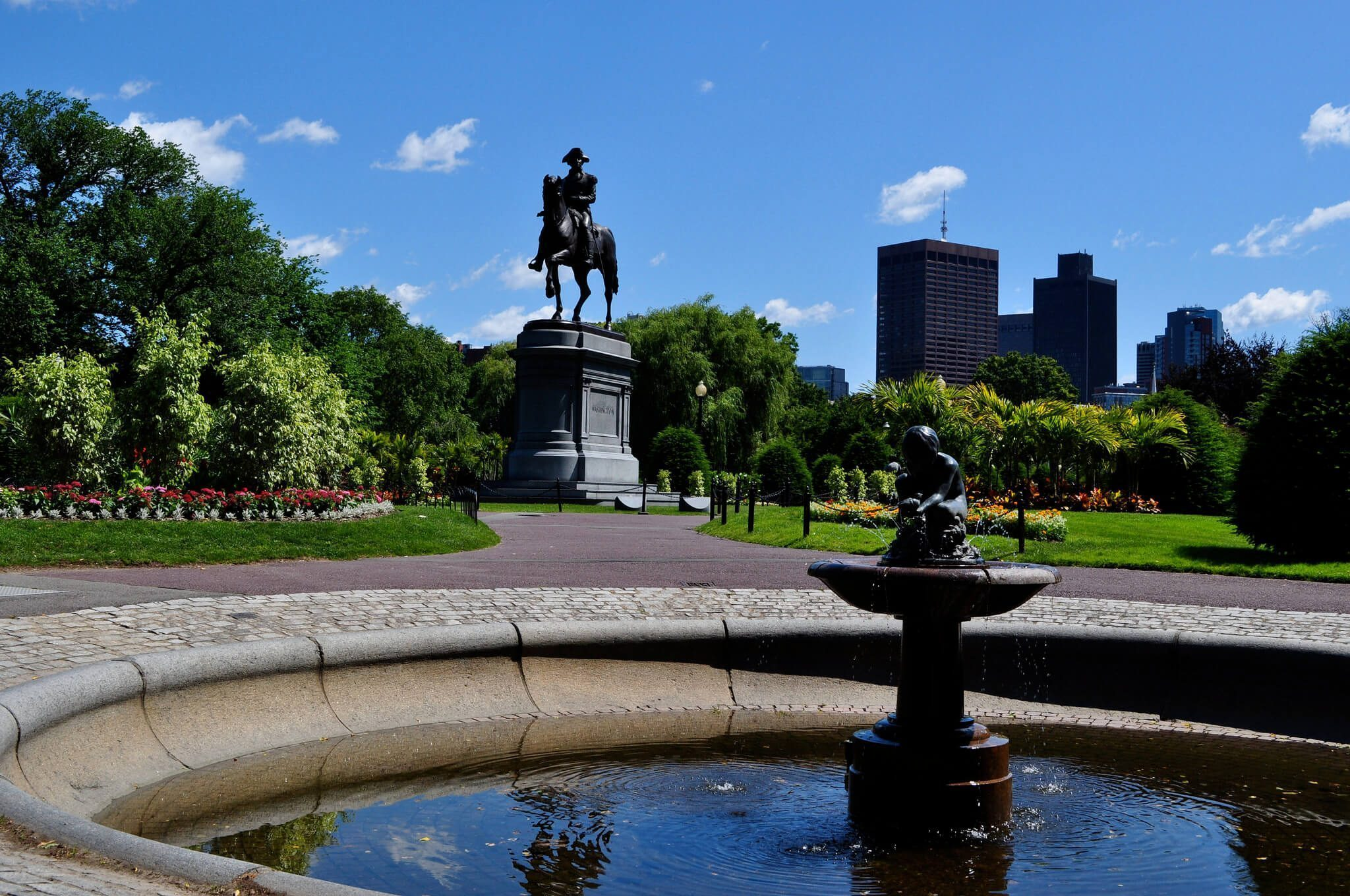 Boston Public Garden Fountain