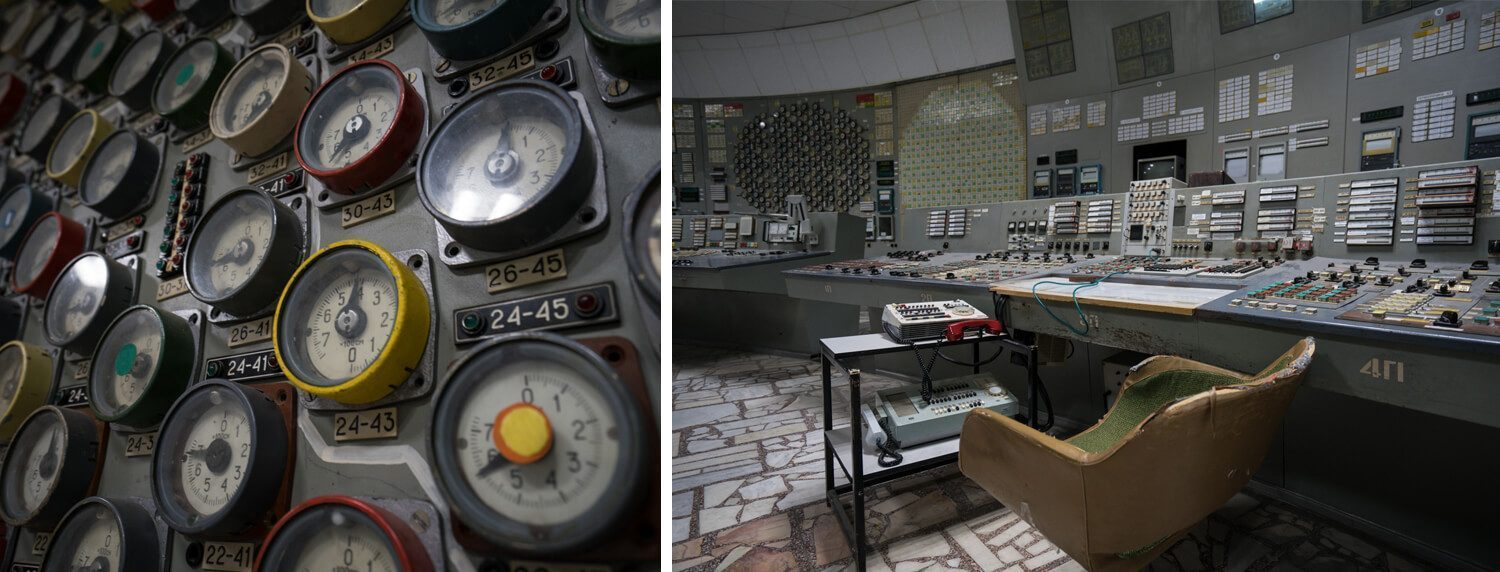 Control Room in Reactor 3 Chernobyl