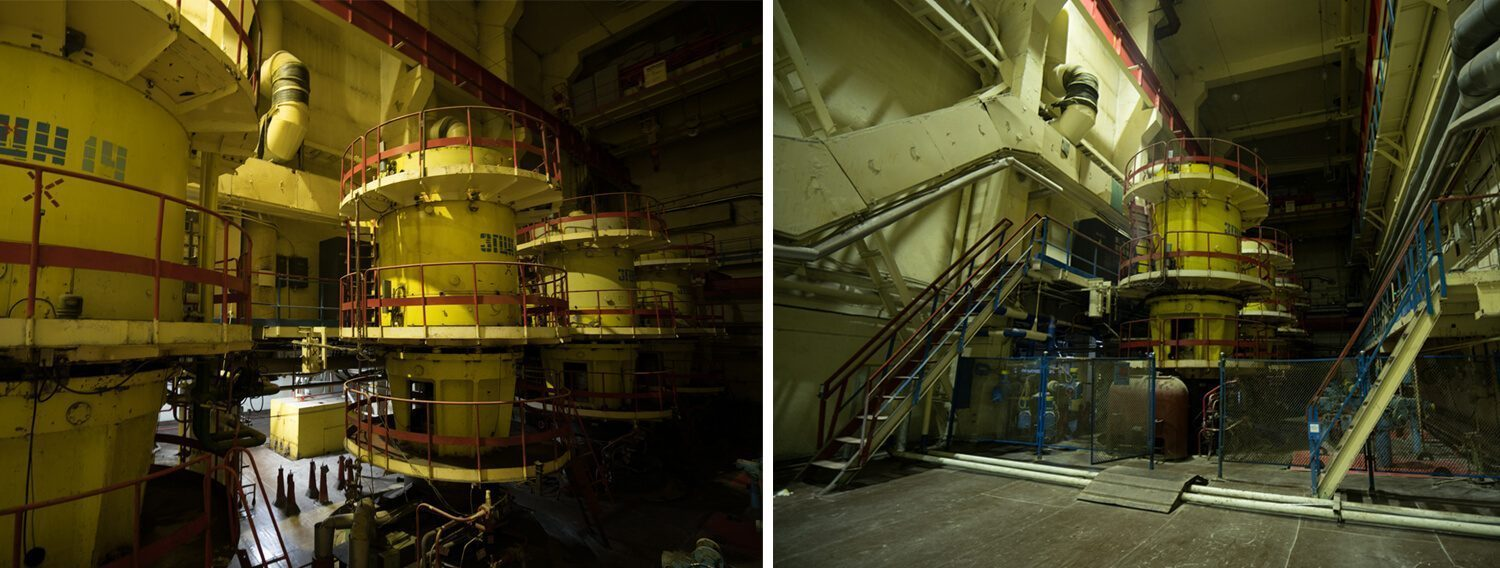The circular pumps room in Chernobyl