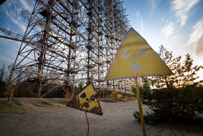 Radioactive Signs at the Duga Radar