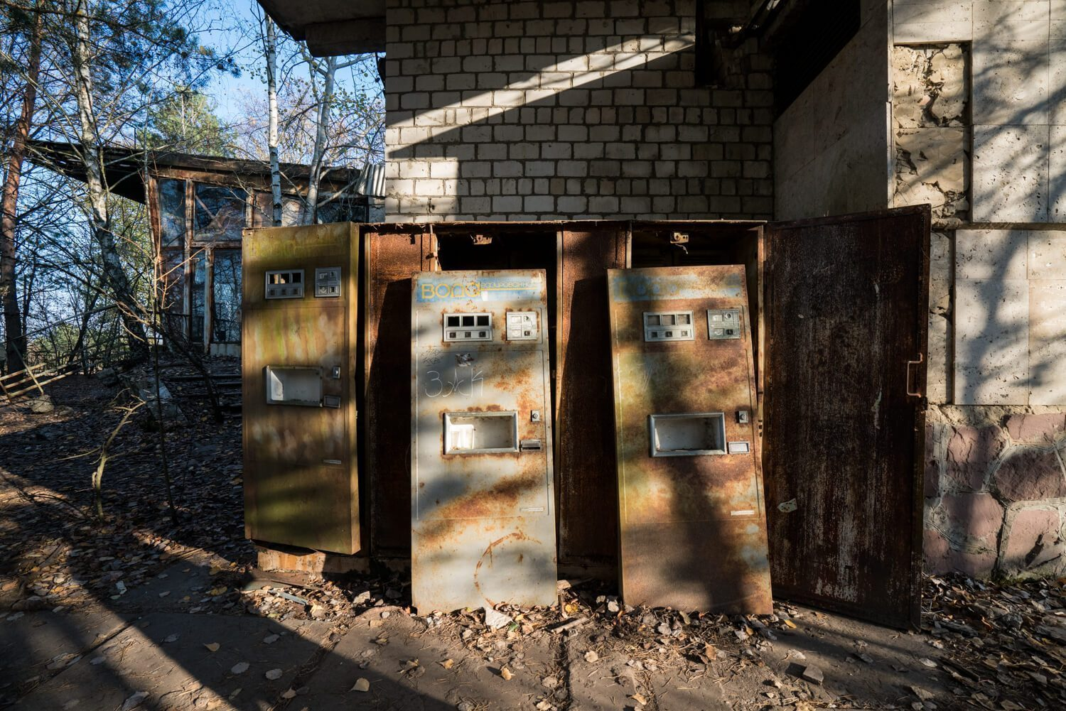 Soda machines at the cafe in Pripyat