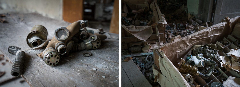 Gas Masks in Chernobyl Pripyat